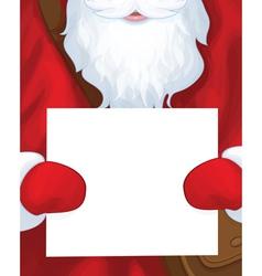 santa postman blank vector image