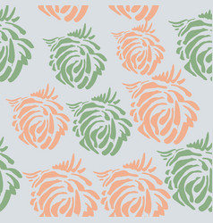 Seamless pattern made brushp vector