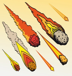 Set meteorites vector