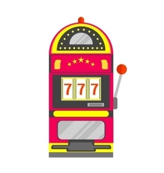 Slot Machine with One Arm Gambling vector