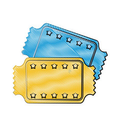 Tickets blank star frame icon image vector