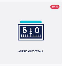 Two color american football scores numbers icon vector