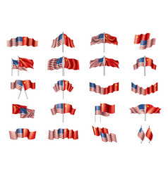 usa and china flags on white vector image