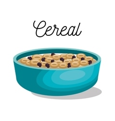 Cereal dish healthy isolated vector