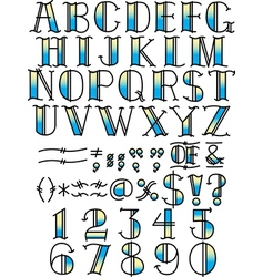 Contemporary Fonts Typeface vector image vector image