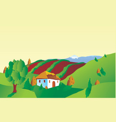 italian of french landscape vector image