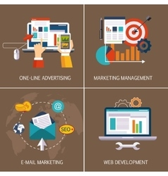 Online advertising email marketing web vector image