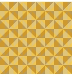 Pattern of yellow beige squares vector image