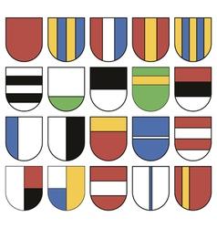 Set of twenty different shields vector image vector image