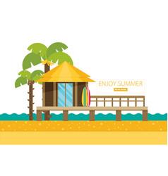 bungalow flat vector image