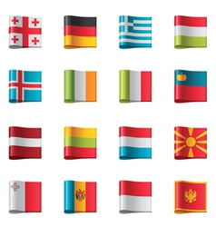 flags - europe part 2 vector image vector image