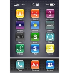mobiles icon set vector image