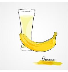 banana juice vector image vector image