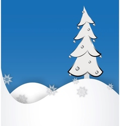 Christmas tree on a paper background vector image vector image