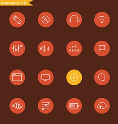 Different line style icons collection vector image vector image