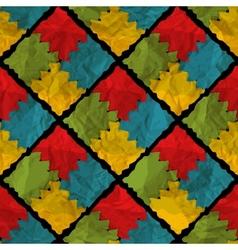 Grunge rhombus seamless pattern vector image vector image