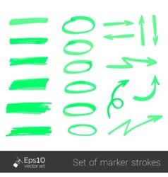 Marker strokes vector image vector image