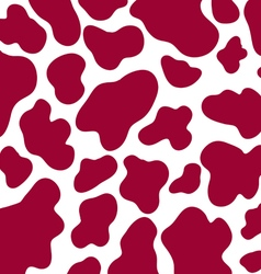 seamless cow skin pattern vector image
