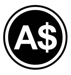 sign currency australia australian dollar vector image