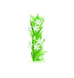 spring flowers alphabet i vector image vector image