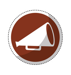 Cinema production megaphone icon vector