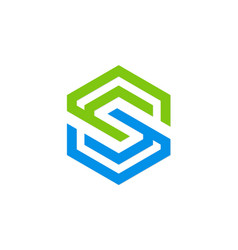 letter s geometry company logo vector image
