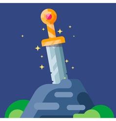 Sword Stone vector image