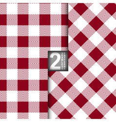 Table Cloth Italian Red Seamless Pattern Set of 2 vector image