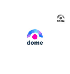 abstract colorful dome logo design vector image