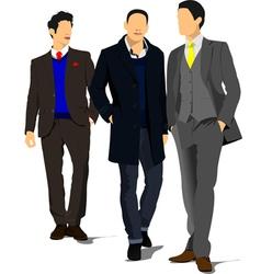 al 1107 three man vector image vector image