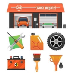 Auto repair icons set vector