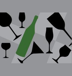 Background bottle vector