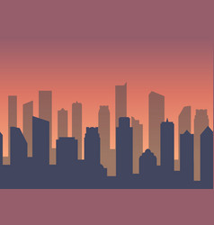 background with city for business web site vector image