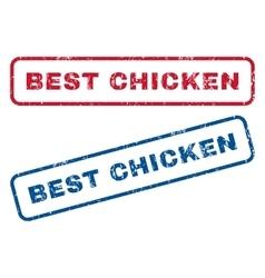 Best Chicken Rubber Stamps vector image