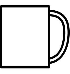 big cup vector image