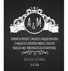 Black chalk board template vintage frame vector image