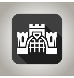 Black flat castle icon for web and mobile vector