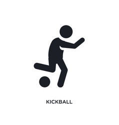 Black kickball isolated icon simple element from vector