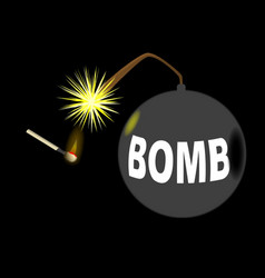 Bomb and match vector