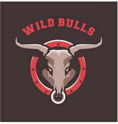 Bull head emblem vector