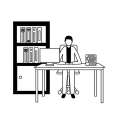 business people office vector image