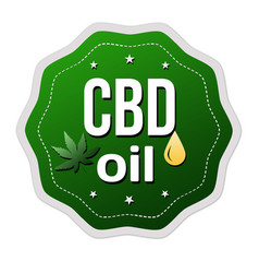 cbd oil cannabidiol sign or sticker vector image