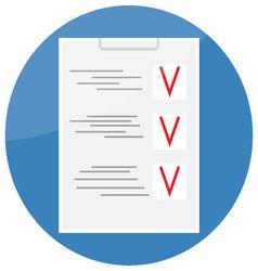 Checklist icon design flat vector image