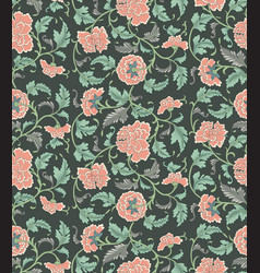 chinese seamless floral pattern vector image