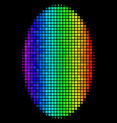 Colored pixel filled ellipse icon vector