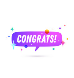 Congrats speech bubble vector