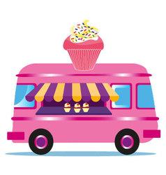 Cupcake Van vector