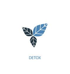 detox concept 2 colored icon simple blue element vector image