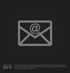 e-mail icon - black creative background vector image