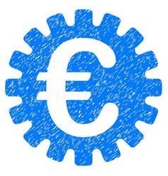 euro cog icon grunge watermark vector image